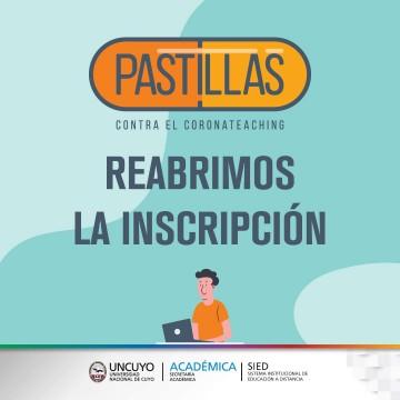"""""""Pastillas contra el coronateaching"""" nueva inscripción al espacio"""
