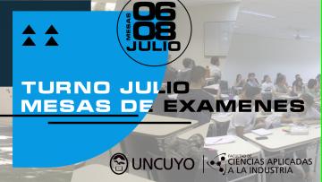 Las Mesas de Exámenes Finales del turno de Julio 2021
