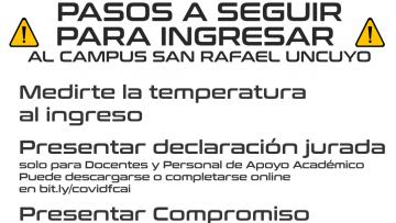 Pasos para ingreso al  Campus UNCuyo San Rafael