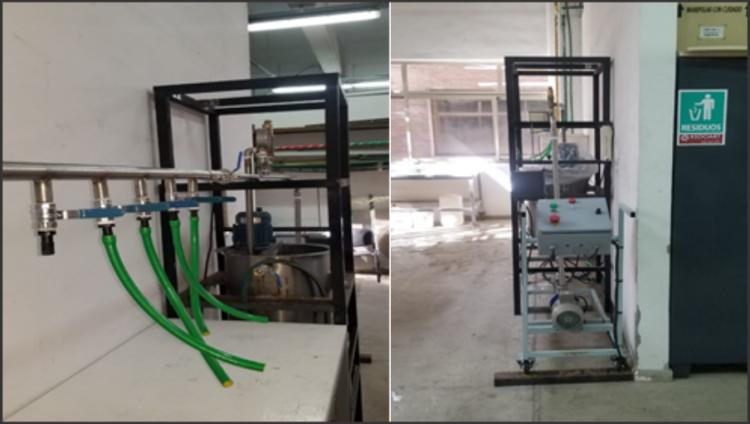 Mejoras en escala de la planta de elaboración de alcohol en gel
