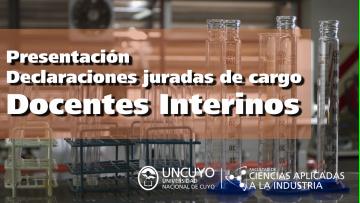 Declaraciones juradas de cargo - Docentes interinos