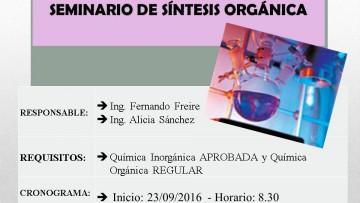 Seminario de Síntesis Orgánica