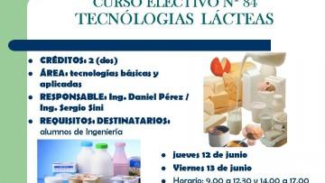 CURSO ELECTIVO Nº 84 TECNÓLOGIAS  LÁCTEAS