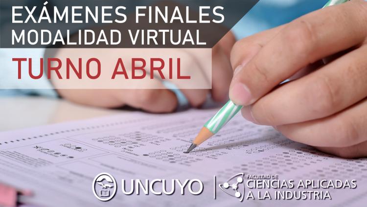 """Examenes Finales """"Turno de Abril en modalidad virtual"""""""