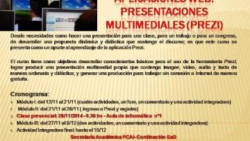 Curso Virtual: Presentaciones multimediales (Prezi)