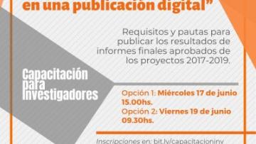 """Capacitación para investigadores """"Convertí tu informe final en una publicación digital"""""""